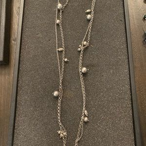 Lia Sophia silver & gray pearl necklace